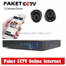 Paket CCTV 2 Camera Dome 1200TVL