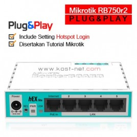 Mikrotik RB750R2 PLUG & PLAY
