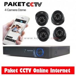 Paket CCTV 4 Camera Dome 1200TVL